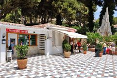 The entrance to the Cave.  Nerja. Span Stock Photo