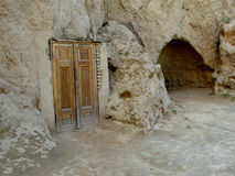 The entrance to the cave. In the vicinity of Bukhara Uzbekistan Stock Image