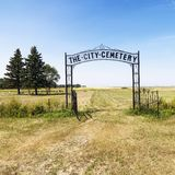 Entrance to cemetary. Royalty Free Stock Photos