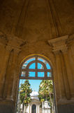 Entrance to Cemetery. Beautiful old entrance to cemetery in Montevideo, Uruguay Royalty Free Stock Photography