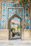 Entrance to cemetery, Samarkand Royalty Free Stock Images
