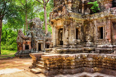 Entrance to central sanctuary of Thommanon temple, Cambodia Royalty Free Stock Photography