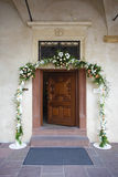 Entrance to the chapel. Door Open at Entrance to the chapel Royalty Free Stock Photo
