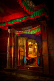 Entrance to a chaple in Tashilompu Monastery Shigaste Tibet Stock Photography