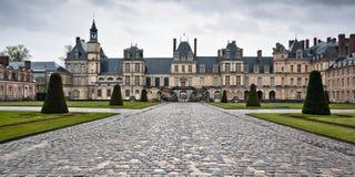 Entrance to the Chateau de Fontainebleau, Paris Royalty Free Stock Photo