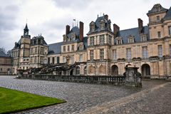 Entrance to the Chateau de Fontainebleau, Paris Royalty Free Stock Image