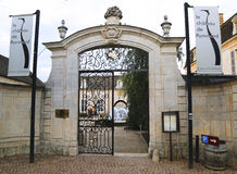 Entrance to Chateau de Pommard, France Royalty Free Stock Images