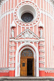 Entrance to Chesme Church in St Petersburg, Russia Stock Images