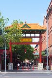 Entrance to Chinatown in Adelaide Royalty Free Stock Image
