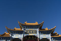 Entrance to Chinese temple Royalty Free Stock Photo