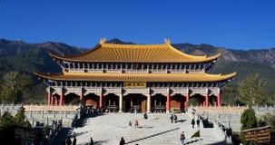 Entrance to Chongsheng Si Monastery. Entrance of Chongsheng Monastery, part of complex of Three Pagodas, Dali, Yunnan, China Stock Image