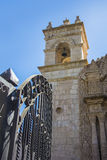 Entrance to the Church of Cayma, Arequipa, Peru Royalty Free Stock Photo