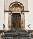 Entrance to church. In Czech Royalty Free Stock Photography