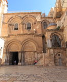 Entrance to the Church of the Holy Sepulchre Royalty Free Stock Images