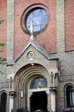 Entrance to the church. Stock Images