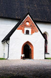 Entrance to the Church in Porvoo Stock Photo