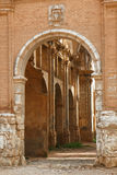 Entrance to the Church ruins of Belchite town, Spain Royalty Free Stock Photo