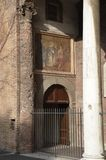 Entrance to the Church of Santa Sabina in Rome, Italy. The Basilica of Saint Sabina is a historic church on the Aventine Hill in Rome, Italy. It is a titular Royalty Free Stock Images