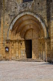 Entrance to the church. In south in France Royalty Free Stock Photo
