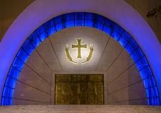 Entrance to a church in Tirana. Entrance to a catholic church in Albania`s capital, Tirana Stock Images