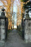 Entrance to a church yard in England Royalty Free Stock Photography