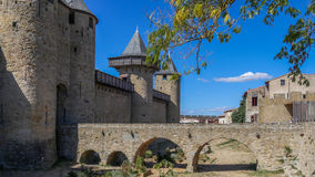 Entrance to  Cite Carcassonne Stock Photo