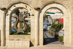 Entrance to City of David - the oldest part of Jerusalem. Israel royalty free stock photography