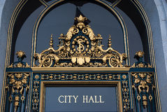 Entrance to City Hall, San Francisco,California Royalty Free Stock Photos