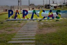 The City of Paracas. The entrance to the City of Paracas, Peru royalty free stock photos