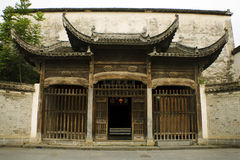 Entrance to a classic noble house in xidi, china Stock Photo