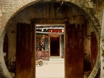 Entrance to Classical Dwellings in Southern China stock photos