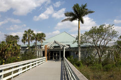 Entrance to coe visitor center. Main park entrance to the Everglades state national park which is a world heritage site, Florida, America, United States, usa Royalty Free Stock Images