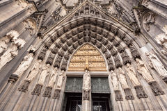 Entrance to Cologne Cathedral Dom. Cologne, North Rhine-Westphalia, Germany Stock Image