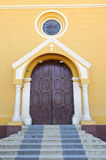 Entrance to Colonial Church Royalty Free Stock Photos