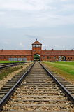 Entrance to concentration camp Royalty Free Stock Images