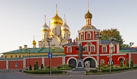 Entrance to the Conception convent in Moscow and the monument Ho Stock Images