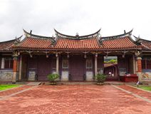 Entrance to Confucius temple, Traditional chinese architecture royalty free stock photography