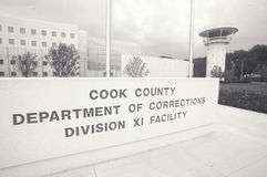 Entrance to Cook County Department of Corrections, Chicago, Illinois Royalty Free Stock Images