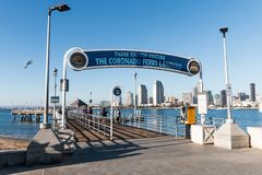 Entrance to Coronado Ferry Landing for Transport by Ferry to San Diego royalty free stock images