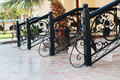 The entrance to the cottage stages with handrails at a resort in. Egypt royalty free stock image