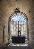 Entrance to Courtyard in Arequipa, Peru. Royalty Free Stock Photo