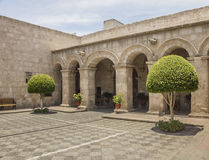 Entrance to Courtyard in Arequipa, Peru. Royalty Free Stock Image