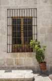 Entrance to Courtyard in Arequipa, Peru. Stock Photo