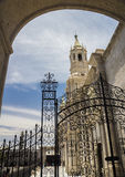 Entrance to Courtyard in Arequipa, Peru. Stock Image