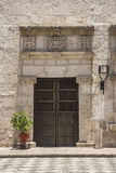 Entrance to Courtyard in Arequipa, Peru. Royalty Free Stock Photography