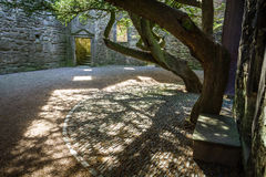 The entrance to the courtyard in a medieval castle Stock Photography