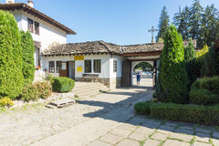 Entrance to the courtyard of the monastery of Troyan, Bulgaria Stock Photography