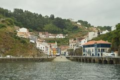 Entrance To Cudillero From The Port. royalty free stock photos