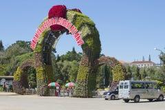 The entrance to Dalat flower gardens. Vietnam Royalty Free Stock Photos