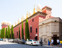 Entrance to Dali Theatre and Museum in Figueres Stock Image